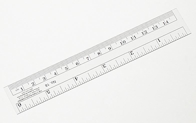 Ruler, Metric/English, Clear, Flexible, 15 cm