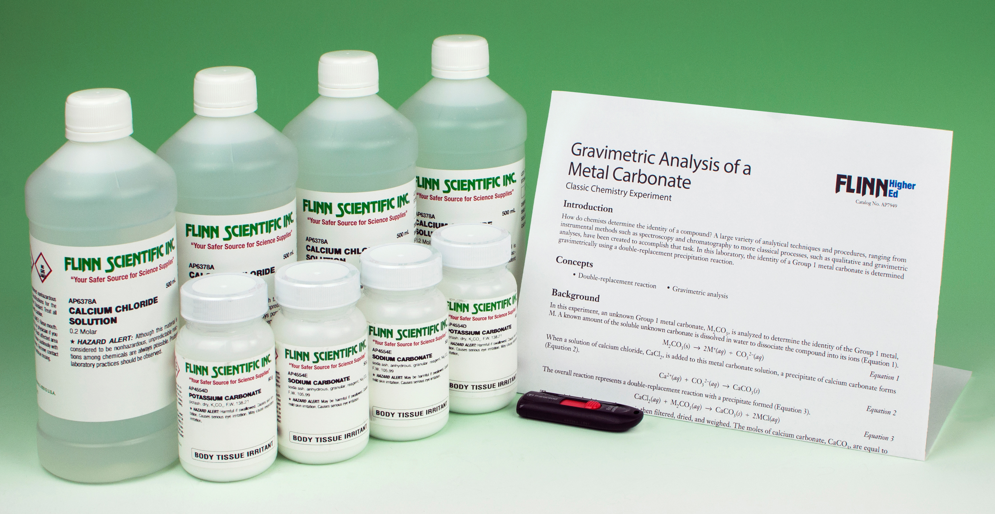 gravimetric analysis of a metal carbonate Gravimetric analysis of a metal carbonate materials unknown sample, m2c03, 2 g calcium chloride solution, cac12, 02 m, 125 ml distilled or deionized water, 200 ml.
