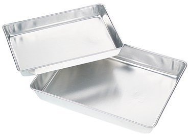 "Aluminum Dissecting Pan without Wax or Pad, 11"" x 7"""