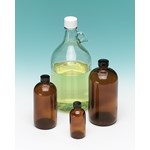 Glass Chemical Bottle with PVC Coating 120 mL