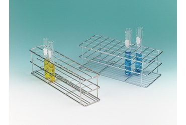 Zinc-Plated Test Tube Rack for 19 mm Tubes