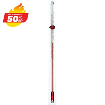 PTFE-Coated Spirit-Filled Partial Immersion Thermometer -10 to 110 °C
