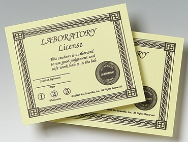 Student Lab Safety License for Liability Reduction in the School Laboratory
