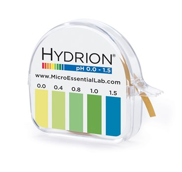 Hydrion Narrow Range pH Test Paper 0.0 to 1.5