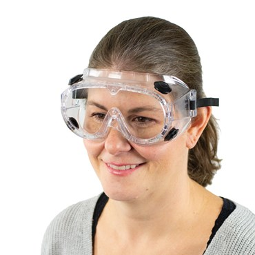 Standard Vented Lab Safety PPE Chemical Splash Goggles
