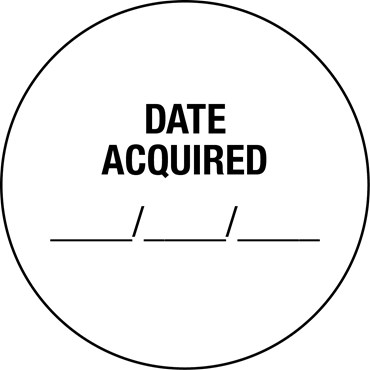 Date Acquired Labels