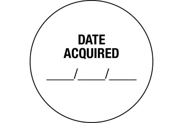 Date Acquired Labels, 100/roll