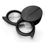 Pocket Folding Magnifying Glass with Double Lens