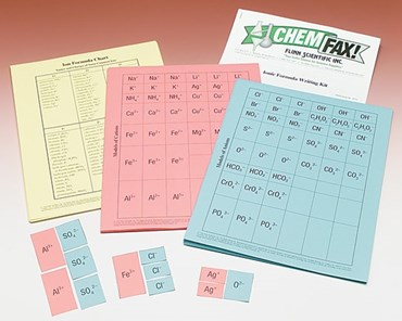 Ionic Formula Writing Chemistry Super Value Activity Kit