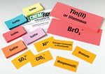 Set of 50 Chemical Ion Flash Cards for Science Class