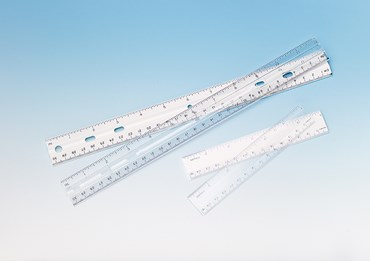 Transparent Ruler with English/Metric 15 cm