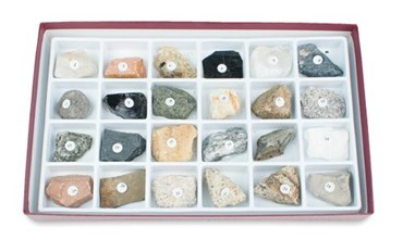 Rocks and Rock-Forming Mineral Collection for Geology and Earth Science