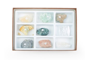 Moh's Hardness Scale Mineral Collection for Geology and Earth Science