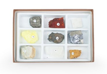 Color and Streak Mineral Collection for Geology and Earth Science