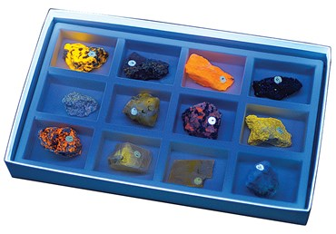 Fluorescent (Short and Long Wave) Mineral Collection for Geology and Earth Science