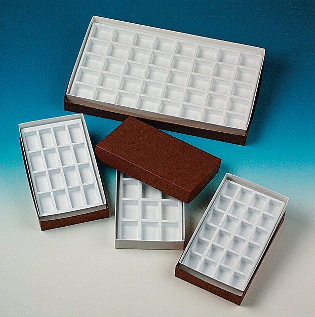 Collection Box with Trays, 12 Compartments, 4 x 6 cm