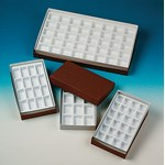 Collection Boxes with Trays (12 Compartments) for Rocks, Minerals and Fossils