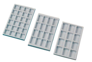 Collection Trays (12 Compartments) for Rocks, Minerals and Fossils