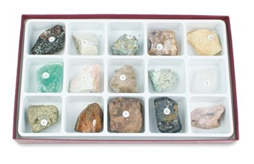 Gem Mineral Collection for Geology and Earth Science