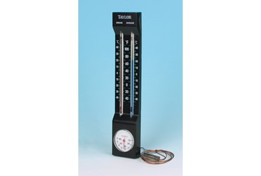Indoor/Outdoor Thermometer with Hygrometer for Earth Science and Meteorology