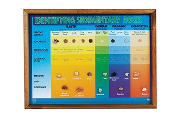 Sedimentary Rock Chart for Geology