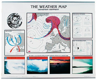 Weather Map Chart for Earth Science and Meteorology