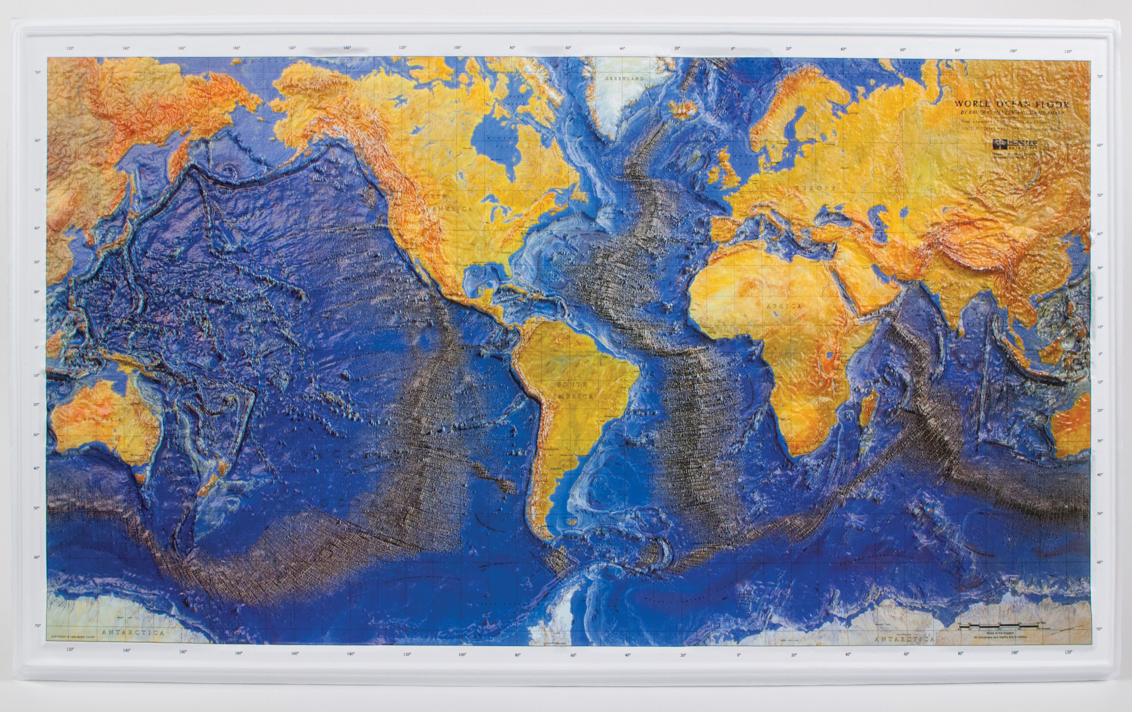 Ocean Floor Elevation Map : Topographic maps of the ocean floor my