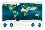 The Living Earth from Space Poster for Earth Science and Geography