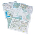 Raised Relief Landform Map Set for Earth Science and Geology