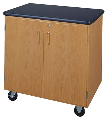 Mobile Demonstration Lab Table and Storage Cabinet for Science Classroom