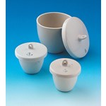 High Form Porcelain Crucible with Cover Economy Choice 10 mL