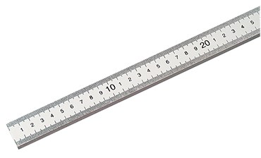 Wooden Meter Stick with English/Metric and Metal Ends