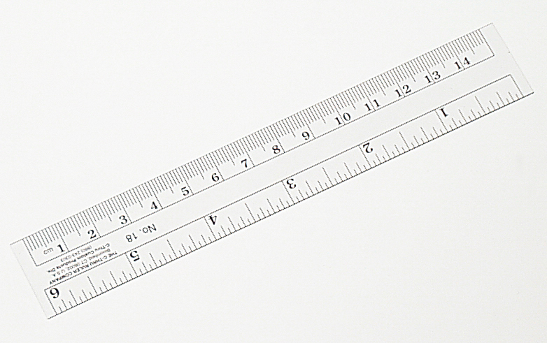 Ruler, Metric/English, Clear, Flexible, 30 cm