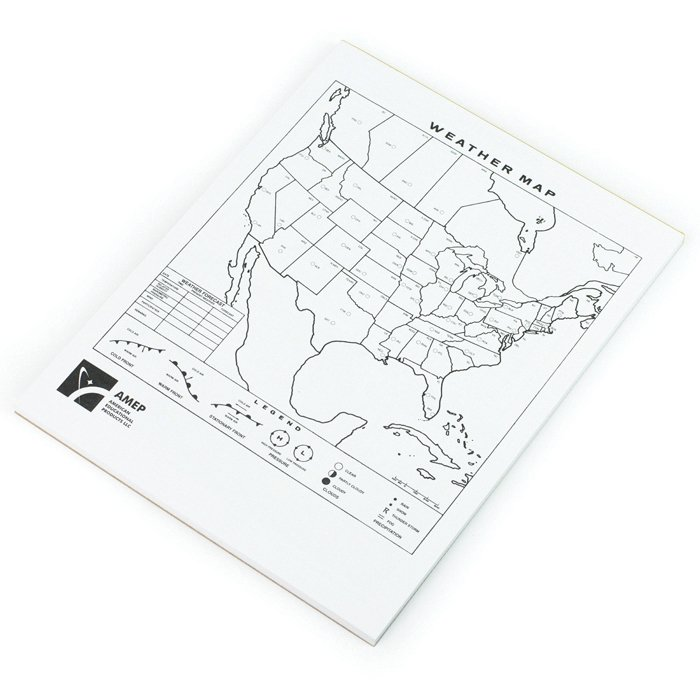 North American Weather Maps for Earth Science and Meteorology