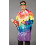 Rainbow Tie-Dyed Lab Coat Size Medium