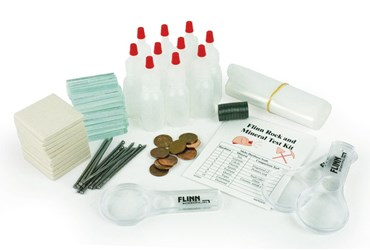 Flinn Rock and Mineral Testing Kit for Geology and Earth Science