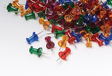 Multicolored Push Pins