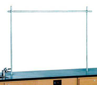 Upright Rod Set with Crossbar for 4-Student Perimeter Lab Station