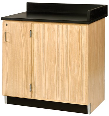 """Dead Corner"" Floor Storage Cabinet for Science Lab and Classroom, Left"
