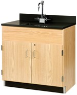 Floor Storage Cabinet and Sink for Science Lab and Classroom