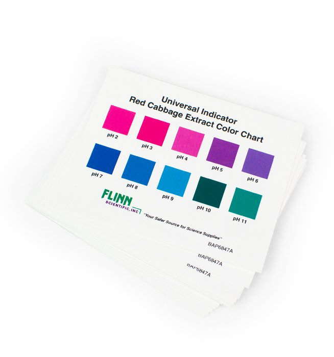 Flinn Chemicals Universal Indicator Color Charts