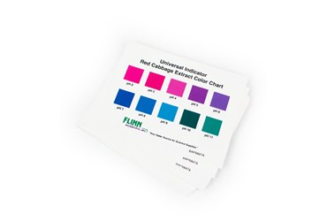 Universal Indicator Color Chart, Red Cabbage Extract