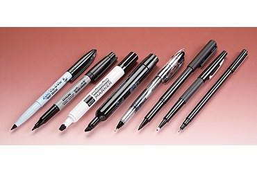 Assorted Black Markers Set of Eight