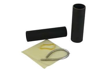 rubber band, rubber drum, cardboard tube, tube