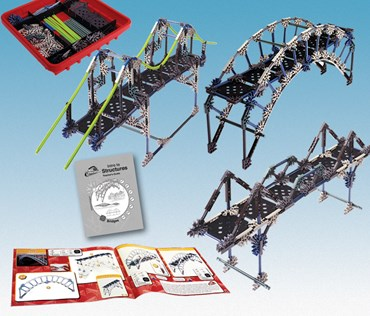 K'NEX Introduction to Structures and Bridges Physical Science and Physics Kit