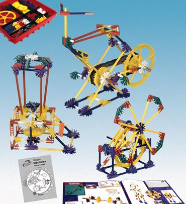 K'NEX Introduction to Simple Machines and Gears Kit for Physical Science and Physics