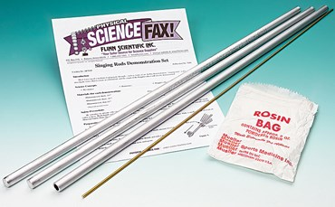Singing Rods Demonstration Kit for Physical Science and Physics