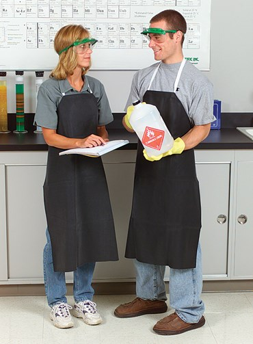 "Rubberized Laboratory Apron Medium Duty, 27"" W x 36"" L"
