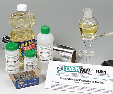 Preparation and Properties of Biodiesel Fuel Consumer Science Laboratory Kit