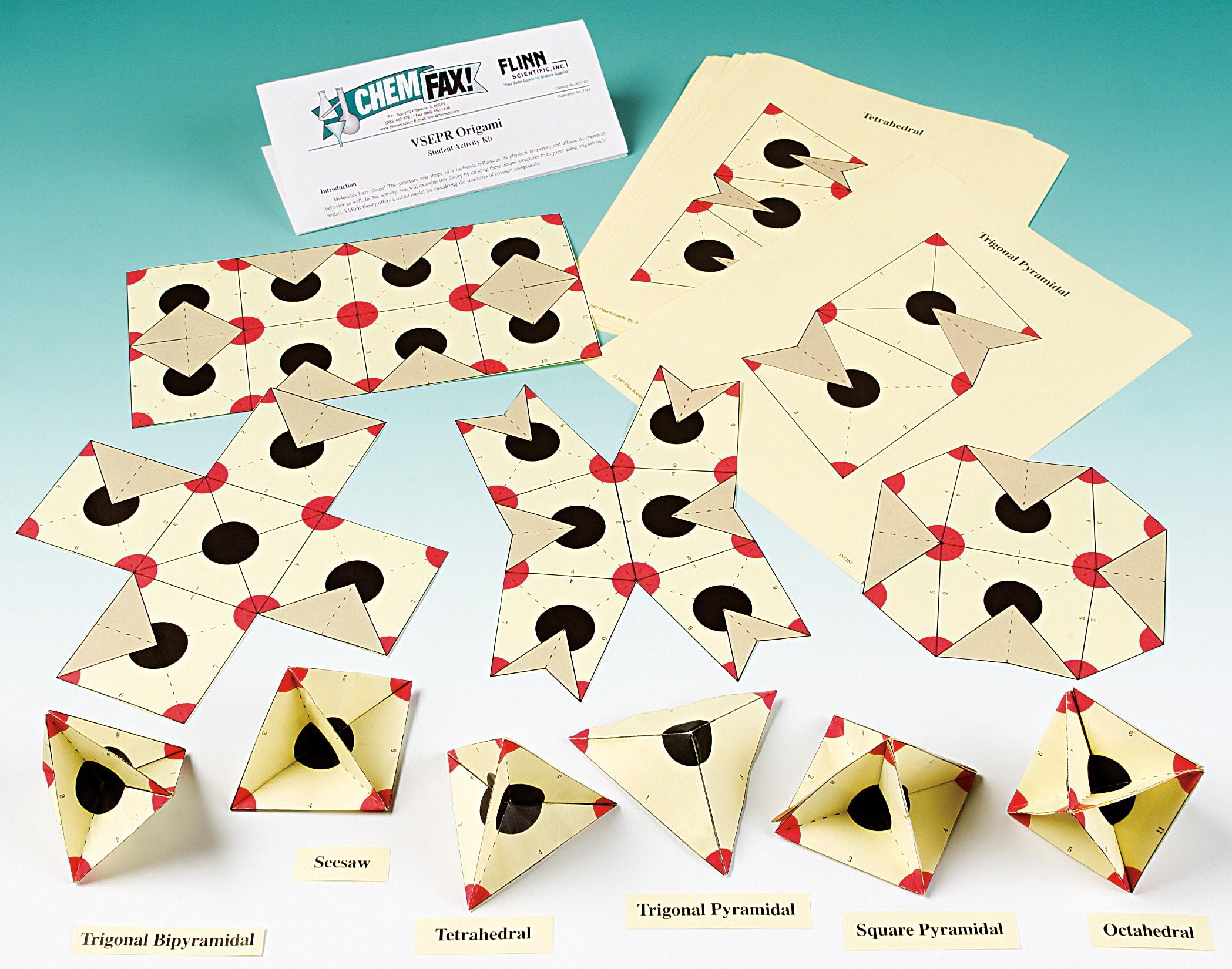 VSEPR Origami—Student Activity Kit